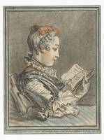 Woman Reading, Gilles Demarteau, after François Bo