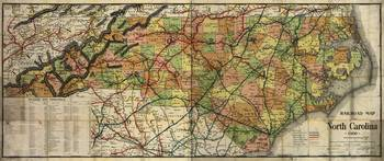Railroad Map of South Carolina (1900)