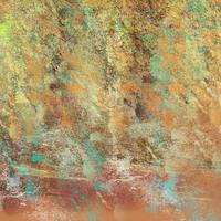 Natural Southwestern Abstract, Copper, Aqua