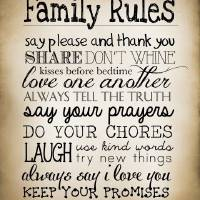 Family Rules Art Prints & Posters by Pat Cook