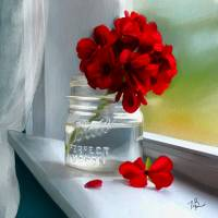 """geraniums in my window"" by tammyleebradley"