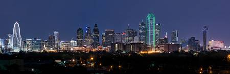 Dallas Skyline Twilight Pano