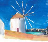 Mykonos_Greece_Wind_Mill_Sea_And_Little_Venice