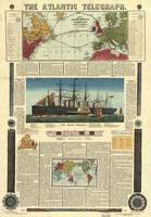 Bacon's Chart of the Atlantic Telegraph (1865)