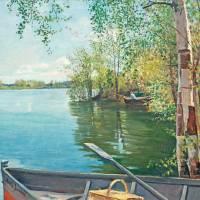 """""""AMELIE LUNDAHL, FISHING ON THE LAKE"""" by motionage"""