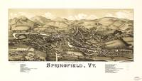 Aerial View of Springfield, Vermont (1886)