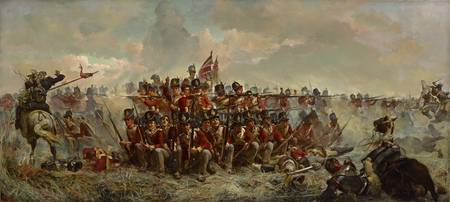 Elizabeth Butler, The 28th Regiment at Quatre Bras