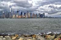 New York City Skyline Across the Hudson Wall Art
