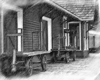 Train Station Platform by Kirt Tisdale