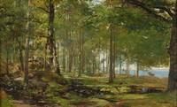 ALFRED WAHLBERG 1834-1906 Forest Park at Särö
