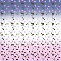 ombre deer pattern