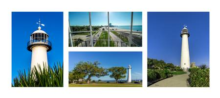 Grand Old Lighthouse Biloxi MS Collage A1