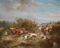 Carl Reichert (Vienna 1836-1918 Graz) The Deer Hun