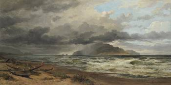 Cook Strait, New Zealand, circa 1884, London, by N