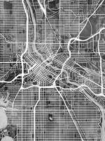 Minneapolis Minnesota City Map