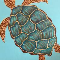 """Oscar the Sea Turtle"" by MelanieLutes"