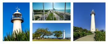 Grand Old Lighthouse Biloxi MS Collage A1b