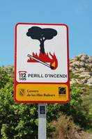 Fire risk sign, Majorca