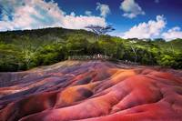 Seven Colored Earth in Chamarel. Mauritius