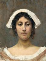 ELIN DANIELSON-GAMBOGI, GIRL IN WHITE BONNET