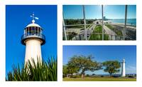 Grand Old Lighthouse Biloxi MS Collage A1c