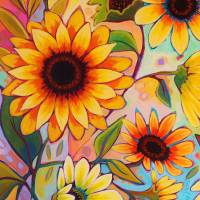 Sunflower 2 Art Prints & Posters by Peggy Davis