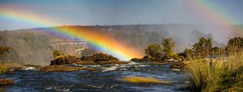 Rainbow over the Zambezi river
