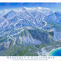 """Heavenly 2018 Ski Map Image"" by jamesniehuesmaps"