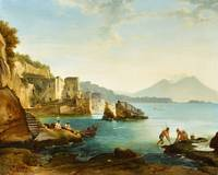 Franz Ludwig Catel, The Bay of Naples with Fishers