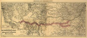 Transcontinental Route of Atlantic & Pacific Railr