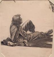 George Caleb Bingham, Young boy drawing  2