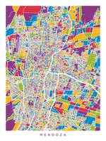 Mendoza Argentina City Street Map