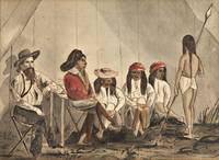 [Southwest]  WATERCOLOR  OF PIMA INDIANS AND THEIR