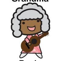 Black Grandma Rocks Guitar Cute Art Prints & Posters by Valerie Waters