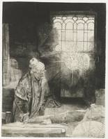 A learned in his study, Rembrandt Harmensz. van Ri