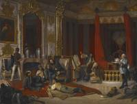 A Military Bivouac in a Royal Palace (Die Militäri