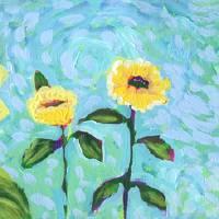 Sunflower Field Art Prints & Posters by Jennifer Lommers