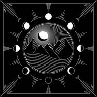Moons and Mountains - Black and White