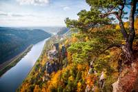 View of River Elbe. Saxon Switzerland