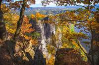 Autumnal Frame. Saxon Switzerland