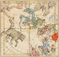 Celestial Map - Ursa Major, Draco, Cygnus (19th Ce
