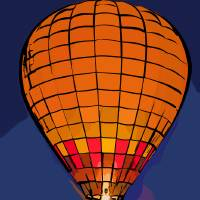 Peach Hot Air Balloon Night Glow In Abstract Art Prints & Posters by Kirt Tisdale