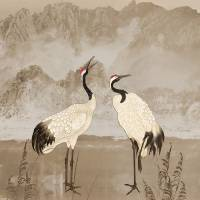 Wintering Manchurian Cranes by I.M. Spadecaller