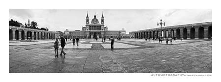 Palacio Real - Courtyard, Madrid, Spain BW