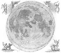 Hevelius' Selenographia - Map of the Moon 1647