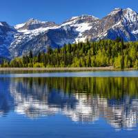 Silver Flat Lake Reflection - Timpanogos - Utah Art Prints & Posters by Gary Whitton