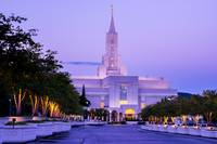 Bountiful LDS Mormon Temple at Sunrise - Utah