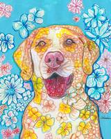 Yellow Lab Flower Dog Pop Art