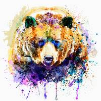 Colorful Grizzly Bear