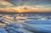 Frozen Chesapeake Bay